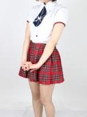 赤チェック柄スカート夏服